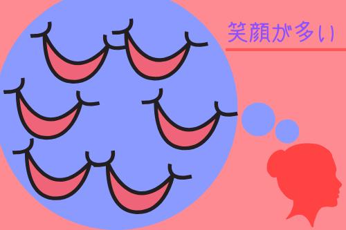 男性が女性にする好意の恋愛表情2:笑顔が多い!