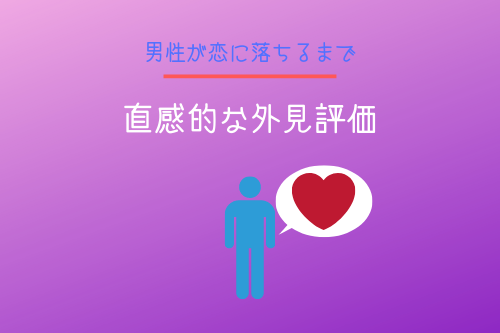 男性が恋に落ちるまで1段階:直感的な外見評価