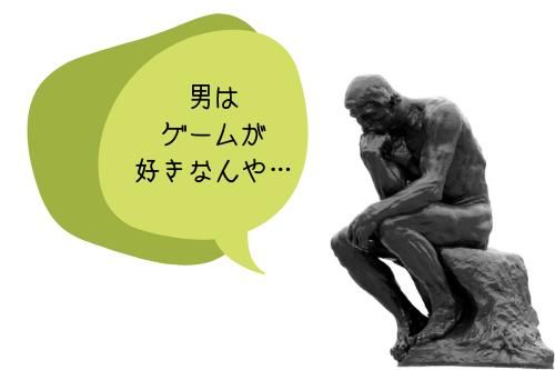 男ってやつは、ゲームが好きなんや…→本能が関係してるかも?