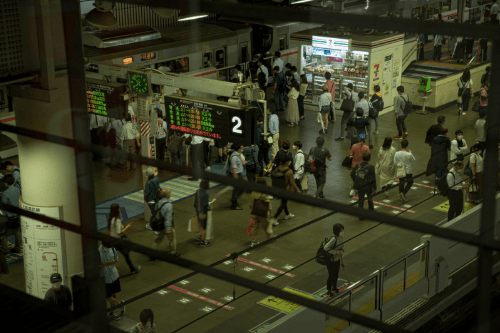 電車:駅の図