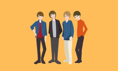 アイドルグループの図