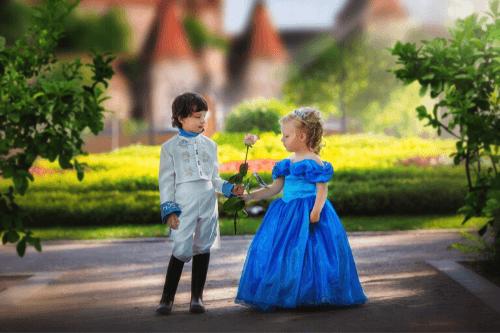 王子様と結婚する女性映画の図