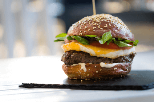 ハンバーガーの図