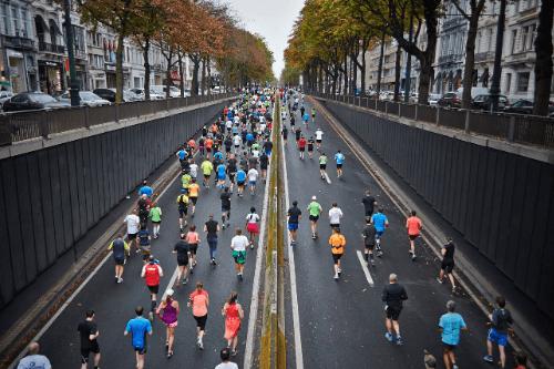 マラソンの図