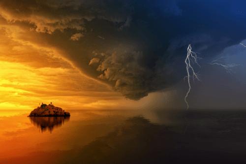 荒れ狂う嵐