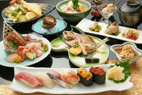 懐石料理の図